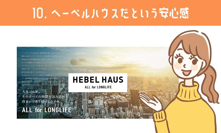 ヘーベルハウスだという安心感