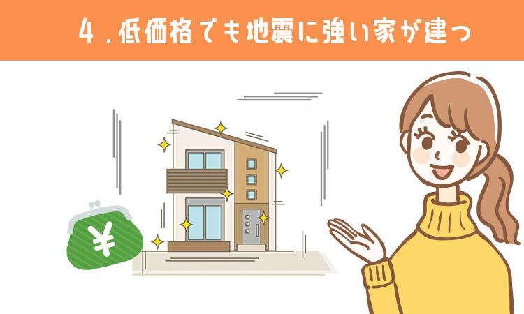 低価格でも地震に強い家が建つ