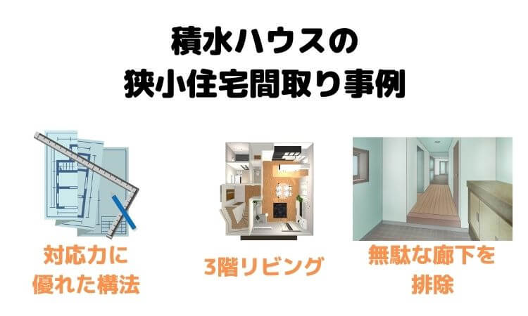 積水ハウスの狭小住宅間取り事例