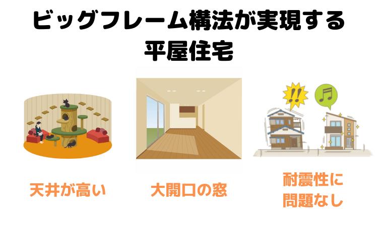 ビッグフレーム構法が実現する平屋住宅