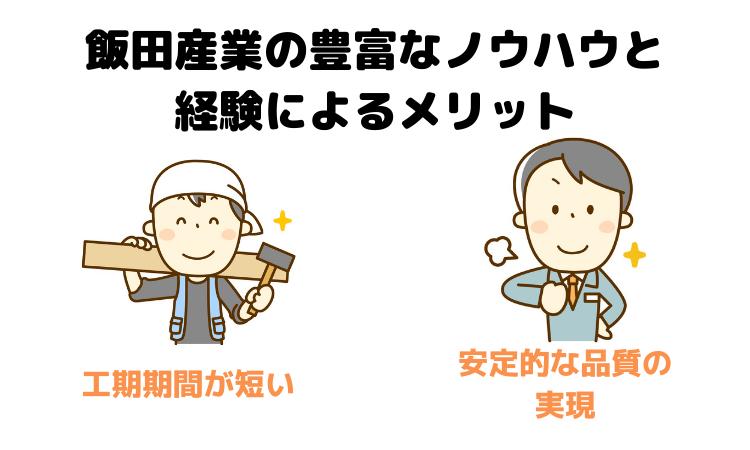 飯田産業の豊富なノウハウと経験によるメリット