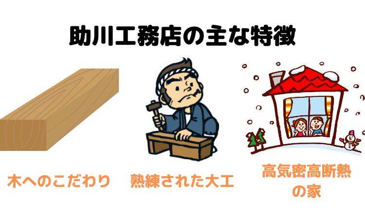 助川工務店の主な特徴