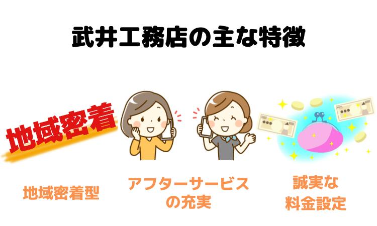 武井工務店の主な特徴