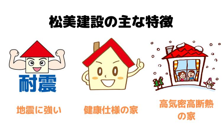 松美建設の主な特徴
